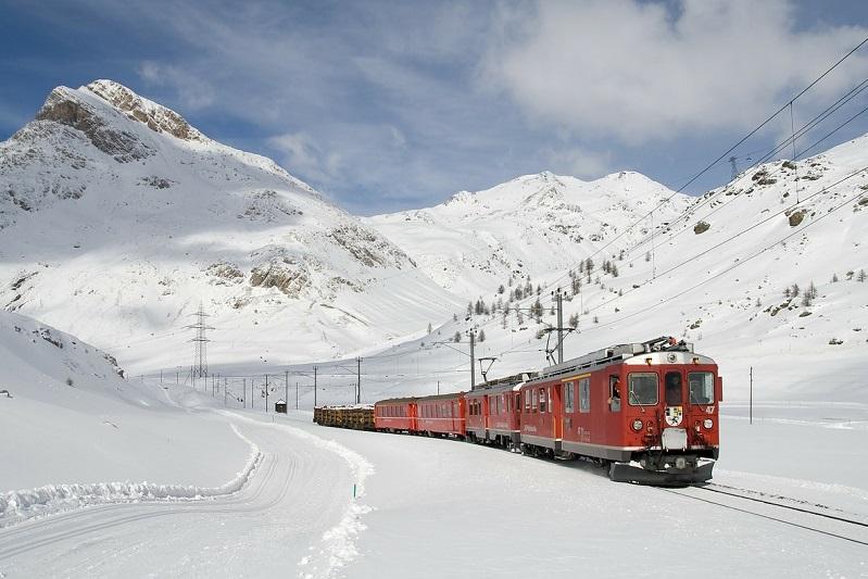 Treinen in Zwitserland